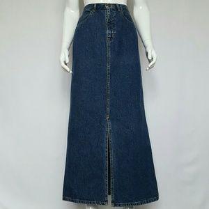 Vintage Eddie Bauer Denim Maxi Skirt